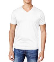 NEW CLUB ROOM V-NECK BRIGHT WHITE COTTON SHORT SLEEVE T SHIRT TEE 2XL - $8.90