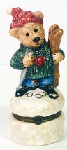 Boyds Bear Bearware Pottery Skiing Bear Without Baby Skiing Bear Trinket... - $5.95