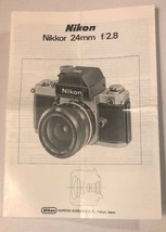 NIKON NIKKOR 24MM 24/2.8 INSTRUCTION MANUAL For SLR CAMERA - $14.84