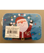 Christmas Gift Card Tin Holder Santa Claus Lindy Bowman Co. New Sealed - $4.61