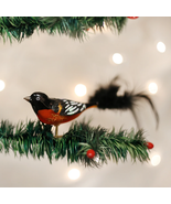 OLD WORLD CHRISTMAS BALTIMORE ORIOLE CLIP-ON GLASS CHRISTMAS ORNAMENT 18059 - $11.88