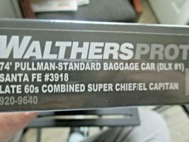 Walthers Proto Stock # 920-9640 Santa Fe 74' PS Baggage Car Deluxe # 1 HO-Scale image 5