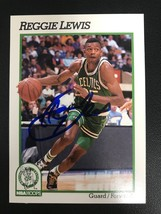 Reggie Lewis (d. 1993) Signed Autographed 1991 Hoops Basketball Card - B... - $79.99