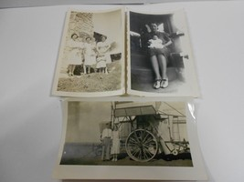 Lot of 3 Vintage Collectible Farm Photos(baby's,children,farm machinery,... - $9.49