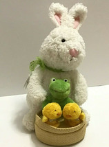 Hallmark Spring Quartet Bunny w Frog Chicks Plays At The Hop Motion Plus... - $30.68