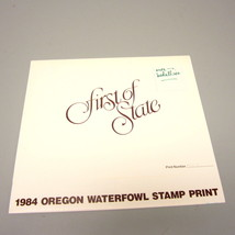 1984 Oregon First of State Duck Stamp & Artist-Signed Print w/Gold Medal... - $165.00