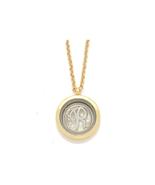 "Goldtone ""R"" Monogram Floating Locket Pendant Necklace - $16.95"