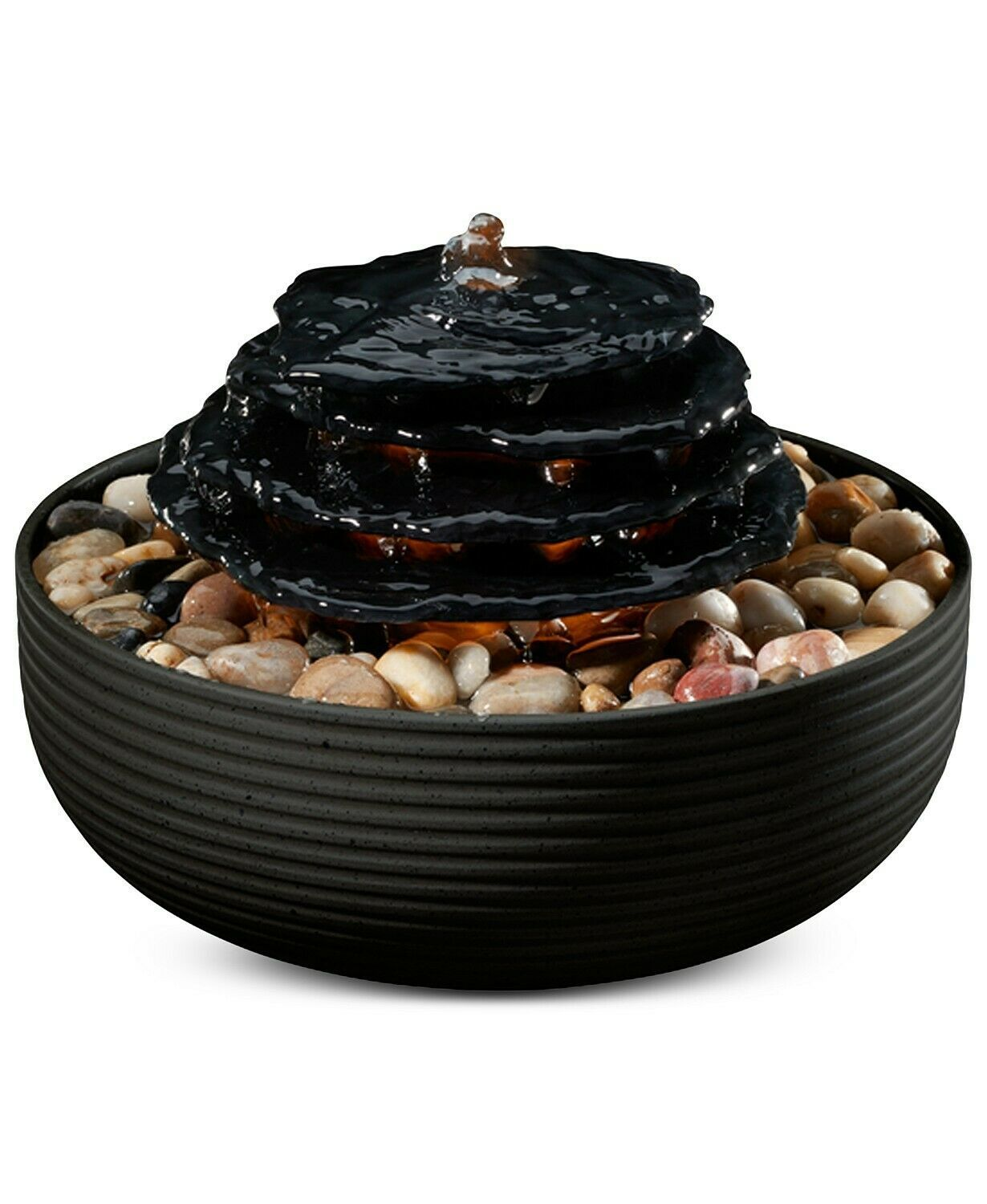 Mirra Zen Tabletop Relaxation Fountain Natural Water Sounds - $31.35