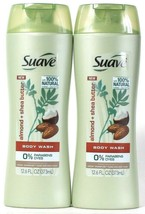 2 Bottles Suave 12.6 Oz 100% Natural Almond & Shea Butter Purifying Body... - $16.99