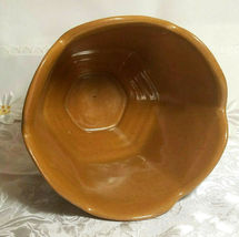 "VINTAGE FRANKLIN RUST BROWN VASE POTTERY SIGNED Approx 6 1/2"" X 5 1/4"" x 5 1/4"" image 3"