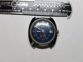 1974 Blue Dial Timex Electronic Time Zone Date Watch For Restoration Parts - $95.00