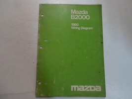 1980 Mazda B2000 Wiring Diagram Shop Manual Stained Faded Factory Oem Book 80 - $11.10