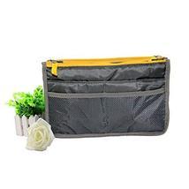 PANDA SUPERSTORE Gray Korean Storage Bag Multifunctional Sponge Bag Double Zippe