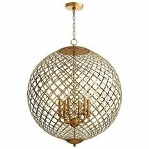 "Horchow Modern Gold or Silver Orb GLOBE Chandelier Skyros 37"" $3000 Cyan Design - $2,790.81"