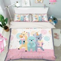 3D Dance Animals Bed Pillowcases Quilt Duvet Cover Set Single Queen King Size AU - $90.04+