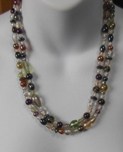 Vintage Double Strand Different Shapes Colorful Glass Hematite Bead Neck... - $54.45