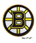 """Boston Bruins Logo Size 3"""" Embroidered Iron 1 Patches - $1.20"""