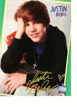 Justin Bieber teen magazine pinup clipping red chair Tiger Beat young boy - $1.50