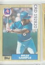 1987 Topps Billy Sample Outfield Atlanta Braves #104 192820 - $1.86