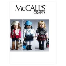 """McCall's Patterns M6480 18"""" (46cm) Doll Clothes and Accessories, One Size Only - $14.21"""