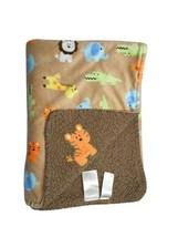 Baby Starters Brown Jungle Safari TIGER Blanket Lovey Sherpa Elephant Lion Boys - $37.74