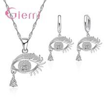 New Fashion Eyes Design Women Jewelry Sets True 925 Sterling Silver Pend... - $13.94