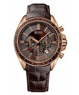 HUGO BOSS 1513093 Driver Designer Leather Strap Brown Men's Watch - $143.45