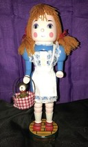 Kurt S. Adler Dorothy & Toto The Wizard of Oz Nutcracker Hand Crafted Wo... - $50.00