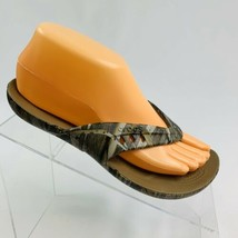 Crocs Women's Size 6 W Camouflage Camo Waterproof Thong Flip Flop Sandals - $19.79