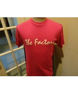 Vtg 80's Pink THE FACTORY Hanes 50-50  Tshirt Fits Adult M Nice Rare Usa... - $26.72
