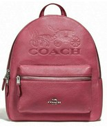 New Coach 76729 Jes Backpack with Horse and Carriage Leather Rouge - $139.00