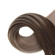 Easyouth 14inch Seamless Skin Weft Glue in Hair 40g 20pcs Color 4 Medium Brown F image 4