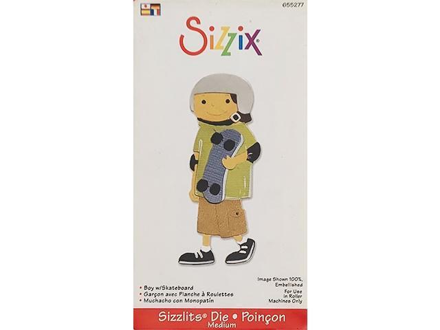 Sizzix Sizzlits Boy with Skateboard Die #655277