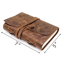 Leather Journal | Vintage Writing Scrapbook | Handmade Leather Bound Dia... - $33.61