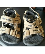 Kid Connection Action Flex Baby Toddler Light Brown Sandals Shoes Size 2 - $12.86