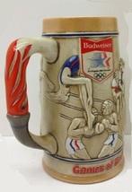 ANHEUSER BUSCH BUDWEISER 1984 LOS ANGELES SUMMER OLYMPICS STEIN CS60 - $17.99