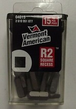 Vermont American 04015 #2 Square Recess Drive Power Screw Bits - $2.72