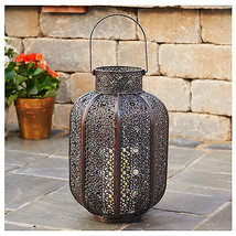 Patio Lantern, Brown Metal, 14.5-In. - $37.61
