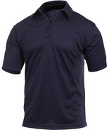 Navy Blue Solid Performance Moisture Wicking Security Work Tactical Polo... - $24.99+