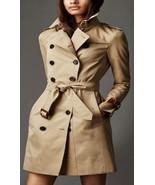 London Designer Trench Coat Jacket Mac Plaid Mahogany Leather Cuffs 2 4 ... - $139.89+