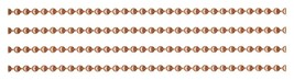 Solid COPPER BALL by-the-Foot CHAIN ~ 2.4mm + one connector per ft - $1.75