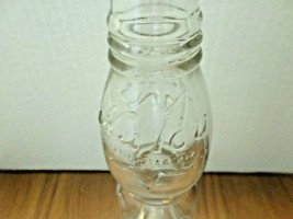 Vintage 1920 Half Pint Nu Icy Tall Clear Glass Curvy Soda Bottle - $17.82