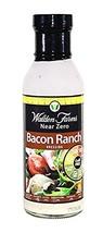 Walden Farms Bacon Ranch sugar fat free dressing 12 oz pack of 2