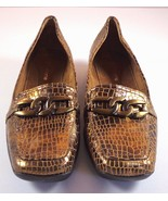 Liz Claiborne Women's Bensen Bronze Embossed Leather Loafers Size 7.5 M ... - $35.56