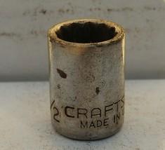 "Vintage Craftsman 1/2"" Socket, EE Series, #44333 12 Point 3/8ʺ Drive USA Made - $7.34"