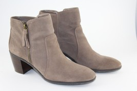 Anne Klein AK Bristle Womens Brown Suede Leather Ankle Boots Size 9M - $54.45