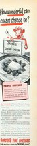 1950 Borden's Cream Cheese PRINT AD Pineapple Berry Salad Elsie the Cow - $8.69