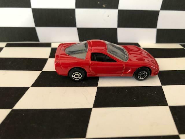 Maisto 1/64 1997 Chevrolet Chevy Corvette Red Regular Wheels