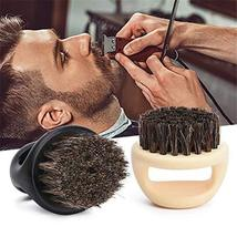 Beard Brush&Comb Kit for Men Beard Grooming 3 in 1 100% Boar Bristle Curve Beard image 4
