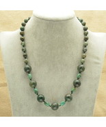 Green Turquoise Necklace - New - $17.82